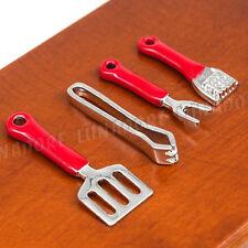 1:12 BBQ Folder Spatula Meat Mallet Fork Set Cookware Kitchenware Miniature Tool