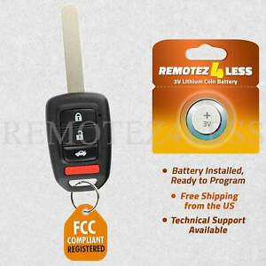 Keyless Entry Remote for 2013 2014 2015 2016 Honda Accord Car Key Fob Control