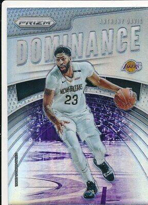 2019-20 Panini Prizm Dominance #2 Anthony Davis Los Angeles Lakers Basketball Card