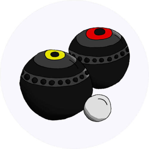 24 x 40mm Round /'Lawn Bowls/' Stickers SK00018403