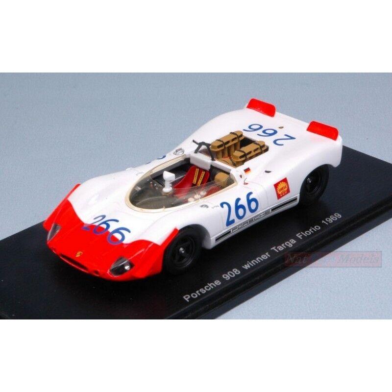 SPARK MODEL S43TF69 PORSCHE 908 02 SPYDER N.266 T.FLORIO 1969 MITTER-SCHUTZ 1 43