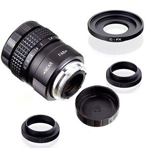 Fujian-25-mm-F1-4-closed-circuit-television-TV-Movie-Lens-C-mount-pour-Fuji-Fujifilm-X-Pro1-C-FX