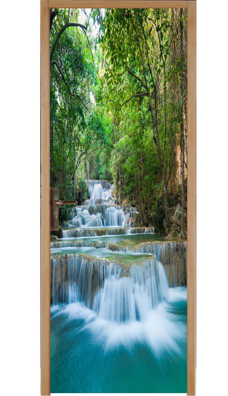 Aufkleber für Tür Wasserfälle Ref 491 (Größenauswahl