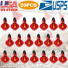 20pack Poultry Water Drinking Cups Chicken Hen Plastic Automatic Drinker Quail