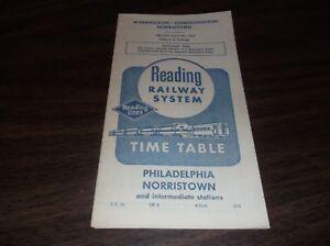 APRIL-1961-READING-COMPANY-PHILADELPHIA-NORRISTOWN-PA-PUBLIC-TIMETABLE