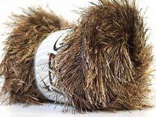 Large 100 Gram Skein Camel & Brown Long Eyelash Yarn #22703 Ice Fun Fur