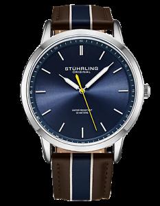 Stuhrling-Men-039-s-3992-Miyota-Japan-Quartz-44mm-Classic-Ultra-Slim-Leather-Watch
