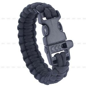 Outdoor-Paracord-550lbs-Bracelets-Buckle-Camping-Emergency-Survival-Gear-Tool