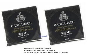 2-SET-CORDE-CLASSICA-HANNABACH-825MT-MEDIUM-TENSION-PURE-GOLD-PLATED
