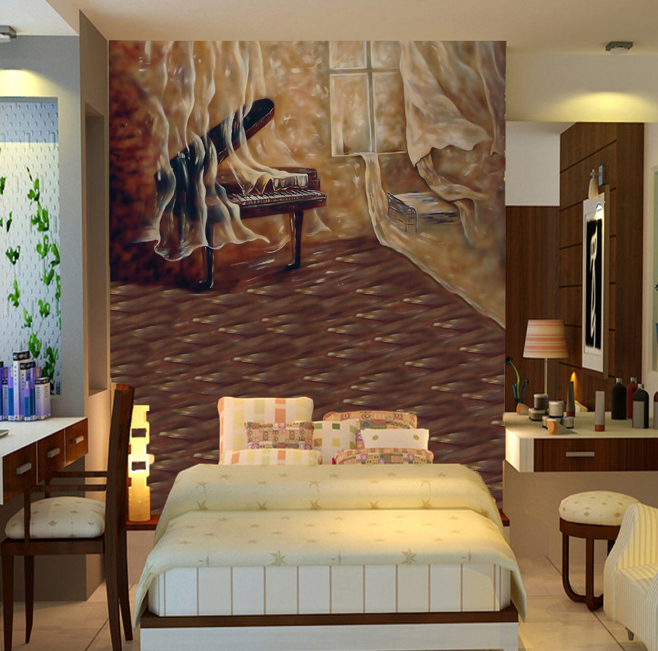 3D Beautiful room 405 Wall Paper Wall Print Decal Wall Deco AJ WALLPAPER