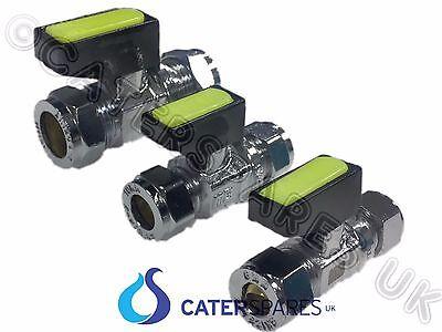 2 x Mini gaz compression Levier Robinet Vanne à Bille pour Tuyau Cuivre 8 mm