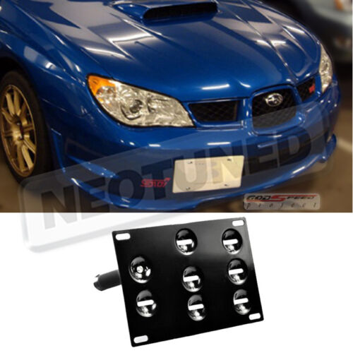 For 02-07 WRX//STI Front License Plate Tow Mounting Kit Relocation Bracket Set