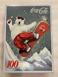 COCA COLA JIGSAW PUZZLE SNOWBOARD BEAR