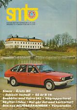 SMTO Swedish Auto Magazine 5/1976 Volva 343 030117nonDBE