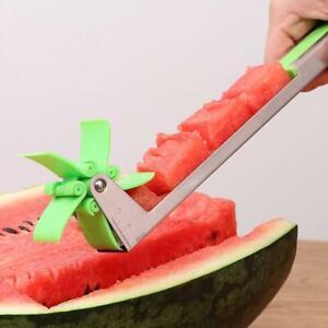 Wassermelonenschneider-Messer-Zangen-Corer-Obst-Melone-Edelstahl-Werkzeug-N-I4J9