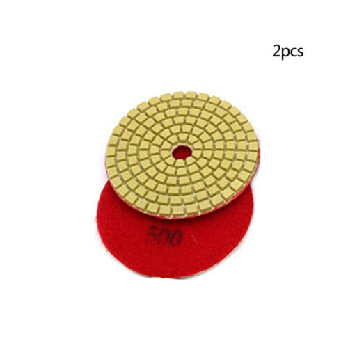 2x 4 Inch Wet Dry Diamond Polishing Sanding Pad Disc Granite Concrete Glass