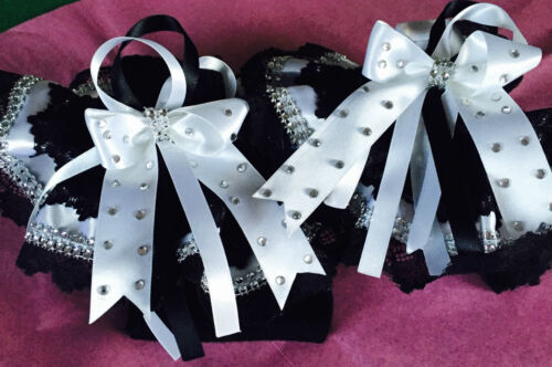 Wow Pageant Show Socks Huge Diamante Rhinestone Trim Jazziejems Boutique London