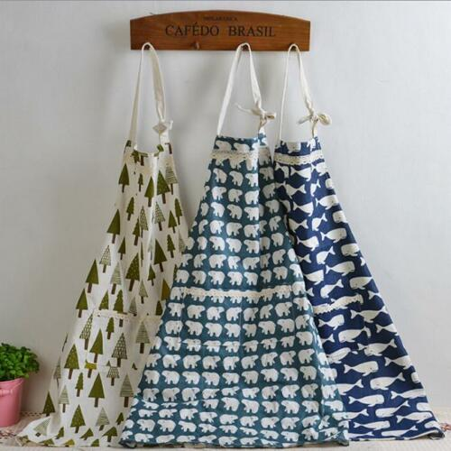 S Cute Animals Story ApronSleeveles Pinafore Kitchen Cooking Linen Cloth
