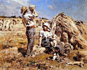 Motherhood-by-French-Leon-Augustin-Lhermitte-Canvas-Life-Art-11x14-Print