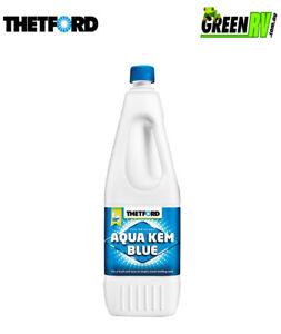 2L-Thetford-Aqua-Kem-Blue-Portable-Caravan-Camping-Toilet-Waste-Tank-Chemical