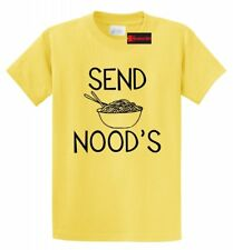 Send Noods Funny Mens V-Neck T Shirt Asian Food Humor Sexual College Party Tee