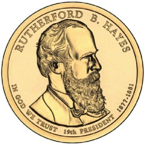 """2011 P   Rutherford B Hayes  Presidential Dollar /""""Brilliant Uncirculated/"""""""