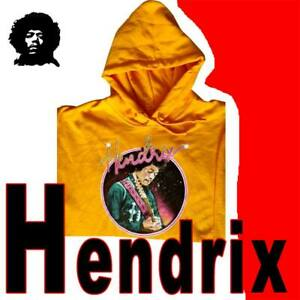 AUTHENTIC JIMI HENDRIX SWEATSHIRT FLEECE PRINTED GRAPHIC PULLOVER HARD ROCK 2XL