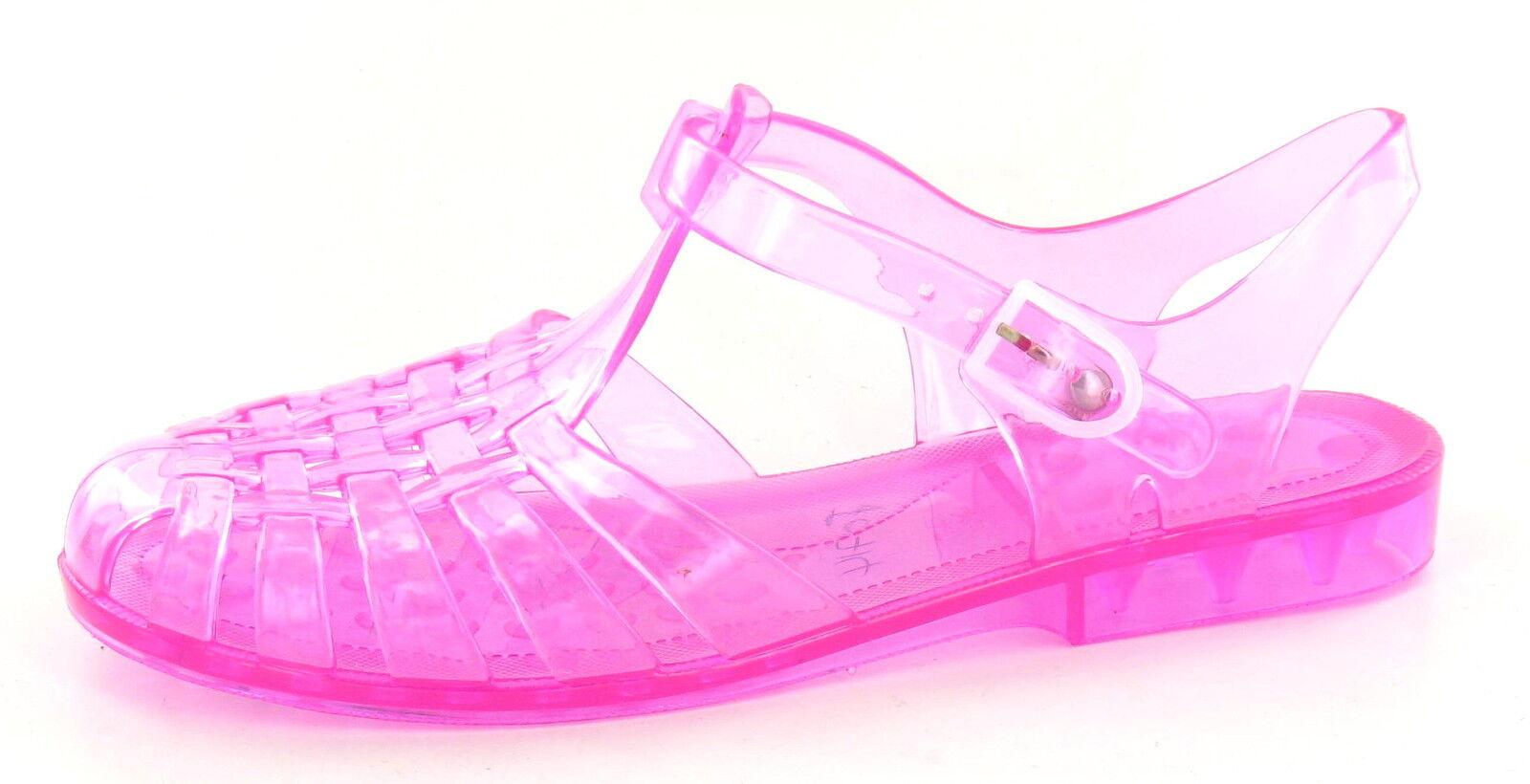 987262d7650d Ladies Spot on Jelly Sandals Label - F0714 Fuchsia 6 UK Regular for ...