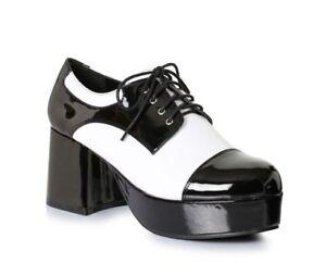 Mens Pimp Platform Black Shoes 8//9