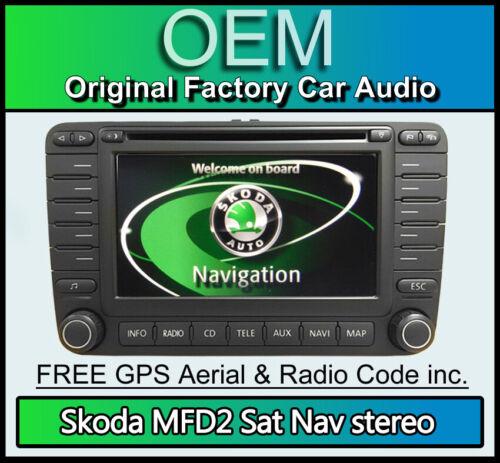 Cd-rom SKODA Sat Nav Navegación MFD2 reproductor de CD 1Z0 035 194 un modelo