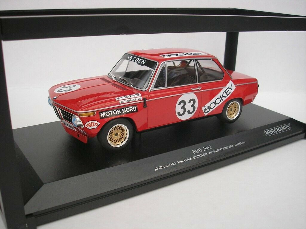 BMW 2002 JOCKEY RACING TOBIASSON//NORDSTRÖM NÜRBURGRING 6 HOURS 1972 #33 1:18 Min