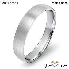 4mm Wedding Ring Platinum Dome Shape Light Comfort Fit Men High Polish Band 6.5g