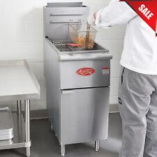50 Lb Commercial Restaurant Liquid Propane Stainless Steel Floor Deep Fryer New
