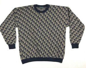 Vintage-90s-Tundra-Canada-Pullover-Herren-Gr-XL-Hip-Hop-Biggie-Bill-Cosby-Abstrakt