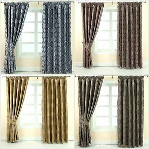 Image Is Loading Pencil Pleat Fully Lined Ready Made Jacquard Curtains