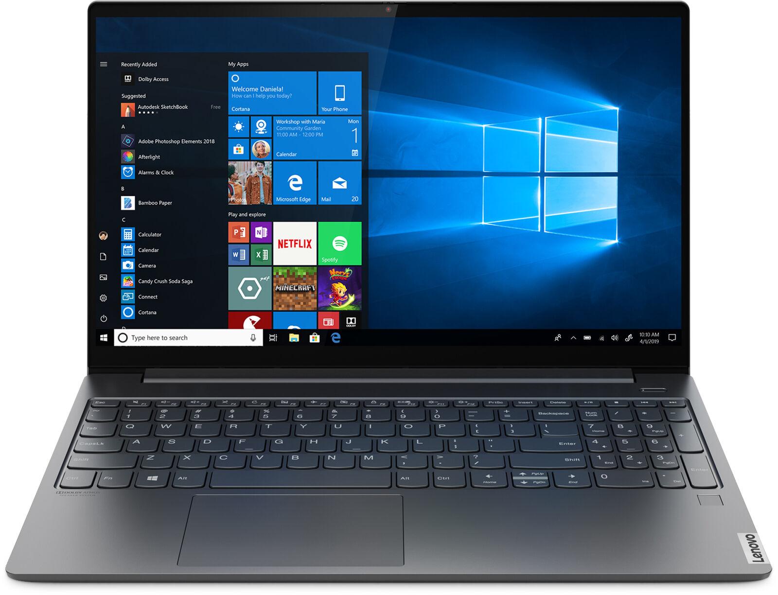 Lenovo IdeaPad S740 (81NW0000US) 15.6″ 4K Touch Laptop, 9th Gen Core i7, 16GB RAM, 1TB SSD