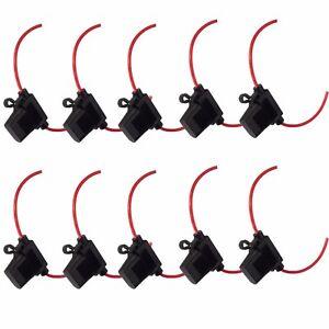 10 X ATC Fuse Holder Box IN-LINE Wire Copper 12V Blade 12 Gauge Standard WYS