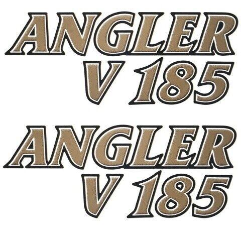 G3 Boat Decal 73404448Angler V 185 Gold Black White Pair
