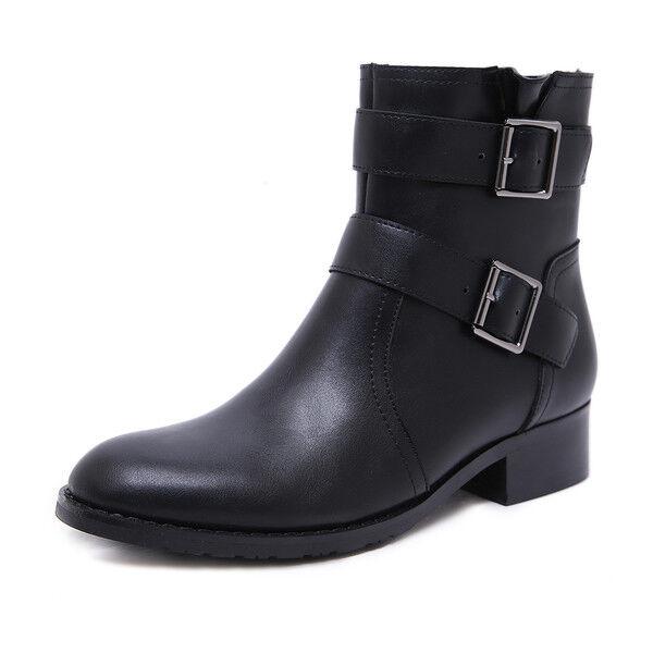 Bottes bottes noir confortable rangers femme talon 3.5 cm 1644