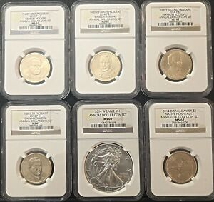 2014-ANNUAL-DOLLAR-COIN-SET-6-COIN-SET-AS-PICTURED-AWESOME