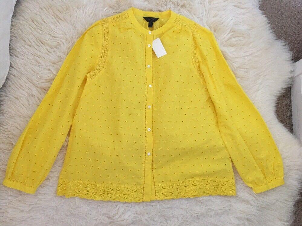 Neuf avec étiquettes J Crew Tall œillets Button-UP Chemise Bright Citrus Sz 10 T G2748 Sold out