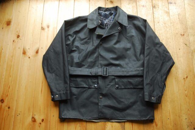 Vintage Belstaff Black Prince caoutchouté Veste de moto Manteau MAC grande