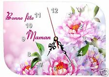 horloge fête des mères bonne fête maman réf FM20 personnalisable