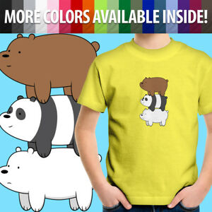 We-Bare-Bears-Stack-Grizzly-Grizz-Panda-Ice-Bear-Unisex-Kids-Tee-Youth-T-Shirt