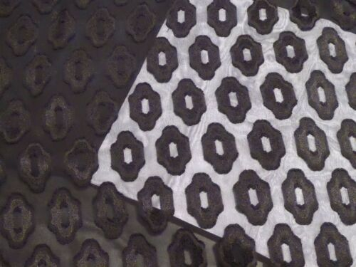 from Japan Black Chiffon Burnout with Geometric Repeating Design