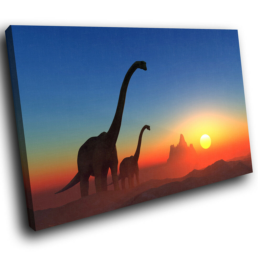 A210 Orange Blau Dinosaur rot Funky Animal Canvas Wall Art Large Picture Prints