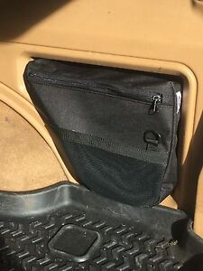 Jeep Cherokee XJ rear storage bag- Black