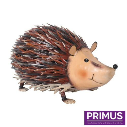 Primus Hand Crafted Jolly Metal Hedgehog Garden Animal Ornament Gift Sculpture