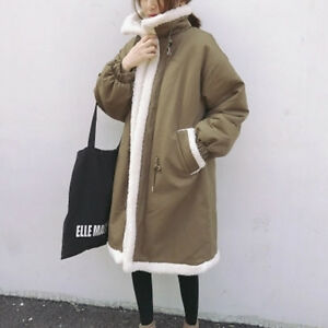 Women-039-s-Autumn-Winter-New-Korean-Fashion-Loose-Slim-Long-Cotton-Thick-Coat
