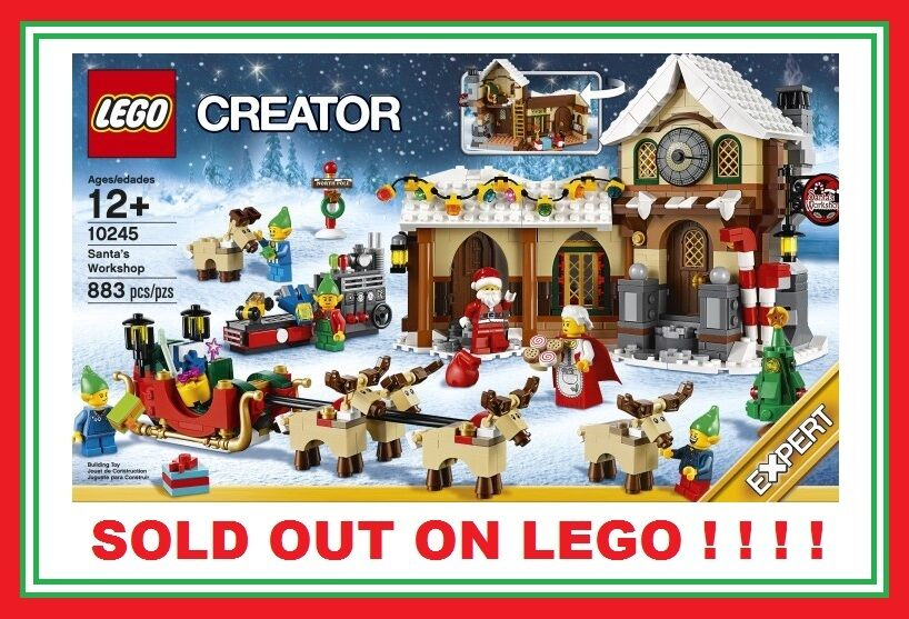 LEGO Winter village Christmas SANTA'S WORKSHOP 10245 ELF REINDEER REINDEER REINDEER SLEIGH SET NEW bc94a3